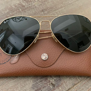 RAY BAN AVIATOR RB3026 Sunglasses Gold L2846 Large
